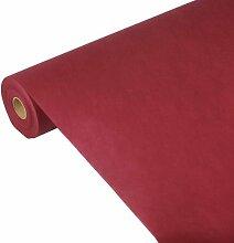 Papstar Tischdecke/Tischtuchrolle bordeaux Soft Selection (1 Stück) 25 x 1.18 m aus PP-Vlies, stoffähnlich; 100% recyclebar, für Haushalt oder Outdoor-Events, 82343
