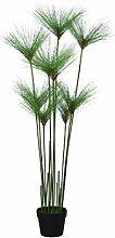 Papyrus- Cypern Gras Kunstpflanze mit 9 Stauden