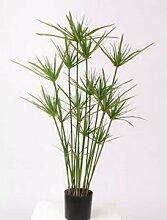 Papyrus Pflanze, Höhe 90cm und 225 Blätter, Kunstpflanze - künstliche Pflanze