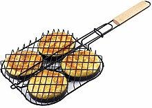 paracity BBQ Grill Korb Aluminiumguss Hamburger
