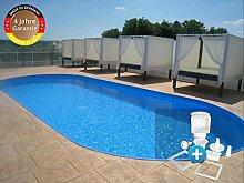 Paradies Pool GmbH Trend Stahlwandbecken Einzelbecken Ovalform 2,50 x 4,50 x 1,20m