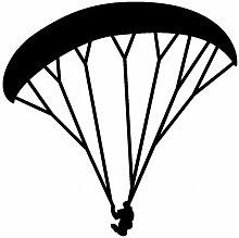 Paraglider Aufkleber Gleitschirm in 8 Größen und 25 Farben (40x40cm schwarz)