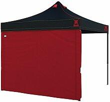 paramondo Grillpavillon Grillzelt Premium Plus, 3 x 3 m schwarz inkl. 1x Wand, ro