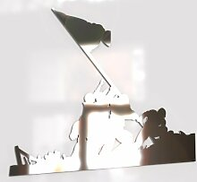 Paranoid Penguin Flag on Iwo Jima Mirror,