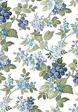 Parati Cristiana Masi Blumen blau glitzernd mit