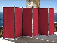 Paravent 6 Teilig 340x165cm Stoff Raumteiler