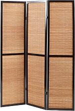 Paravent aus Bambus und Holz im asiatischen Stil