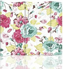 Paravent Blumen mit 5 Paneelen
