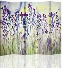 Paravent Gemalte Blumen mit 5 Paneelen