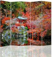 Paravent Japanischer Garten mit 5 Paneelen