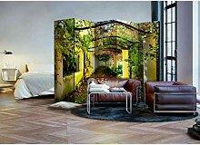 Paravent mit Garten Motiv 225 cm breit