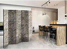 Paravent mit Mauersteinen 5 teilig