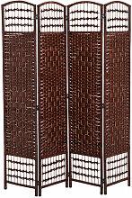 ® Paravent Raumteiler Trennwand 4 tlg. Bambus