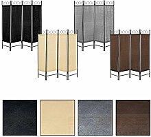 Paravent Raumteiler Trennwand Spanische Wand Sichtschutz Raumtrenner Umkleide (Grau)