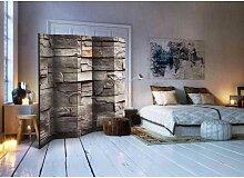 Paravent Sichtschutz mit Mauer Muster 225 cm breit
