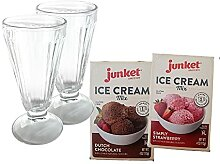 Parfait Glas-Set mit 2 Gläsern und Eiscreme-Mix