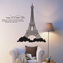 Paris Eiffelturm Wandtattoo House Aufkleber abnehmbarer Wohnzimmer Tapete Schlafzimmer Küche Art Bild Wandmalereien Sticks PVC Fenster Tür Dekoration + 3D Frosch Auto Aufkleber Geschenk