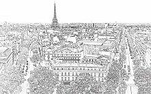 PARIS ETERNEL Panorama Tapete 4x2,70m Deko + Bild