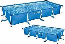 """Paris Prix–Pool Aufstellbecken, Rohrstruktur, rechteckig """"Metal Frame"""", 450x 220cm, blau"""