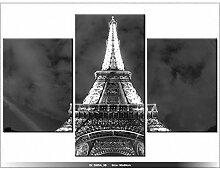 PARIS - TOUR EIFFEL - TABLEAU IMPRIME MODERNE - DECO - DESIGN - FRANCE