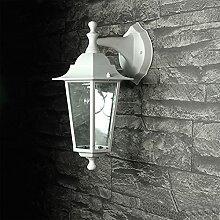 PARIS Weiße Außenlampe Wand Aluminium Glas E27