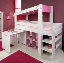 PARISOT Kinderbett Hochbett mit Leiter Biotiful