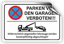 PARKEN VOR DEN GARAGEN VERBOTEN - Parken verboten