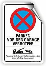 PARKEN VOR DER GARAGE VERBOTEN - Parken verboten