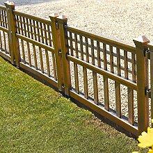 Parkland® Bronze Kunststoff Zaunelemente Garten Rasenkante Pflanze Bordüre Landschaf