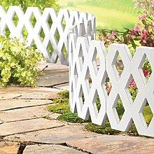 Parkland® Outdoor Flexible Gitter Wetterfester Kunststoff Garten Rasenkante Pflanze Bordüre