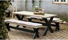 Parkmöbel Nostalgi - Set aus Gartentisch und