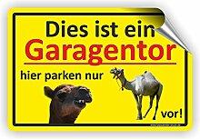 PARKVERBOT NUR EIN KAMEL - Parken verboten Schild / PV-019 (60x40cm Aufkleber)