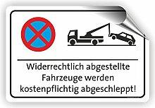 Parkverbotsschild - Parken verboten Schild / PV-001 (45x30cm Aufkleber)