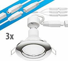 parlat LED Decken-Einbaustrahler DEX chrom GU10