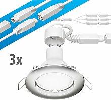 parlat LED Decken-Einbaustrahler DEX chrom matt