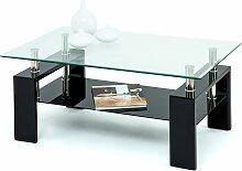 Paroli Couchtisch Tischplatte: Glas schwarz