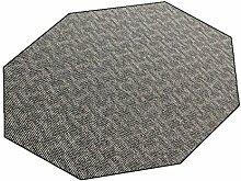 Paros grau 001 HEVO® Teppich | Kinderteppich | Kettelteppich 200 cm Achteck