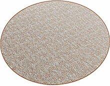 Paros terra 007 HEVO® Teppich | Kinderteppich | Kettelteppich 160 cm Ø Rund