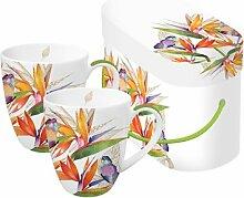 Parrot Flower Porzellan Tasse Trend Mug GB