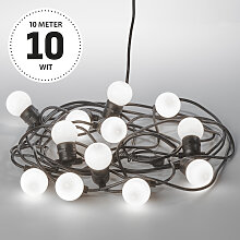 Party 10 m Lichterkette Opal Inkl. LED
