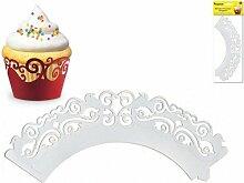 Party Craft Cupcake-Förmchen, 3x blau, 6Stück weiß