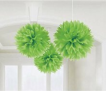 PARTY DISCOUNT Deko-Ball flauschig, grün, 40 cm,