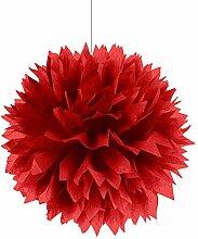 PARTY DISCOUNT Deko-Ball flauschig, rot, 40 cm, 3