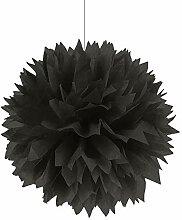 PARTY DISCOUNT Deko-Ball flauschig, schwarz, 40