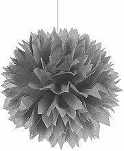 PARTY DISCOUNT Deko-Ball flauschig, Silber, 40 cm,