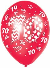 PARTY DISCOUNT Luftballon Happy 70th Birthday,