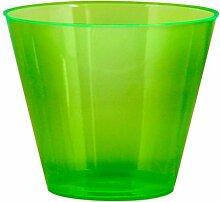Party Essentials Hard 25Count Partybecher/Kunststoff-Trinkgläser, plastik, neon green, 25-Coun