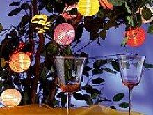 Party Lichterkette / Mini Lampions, Bunt , 480 cm