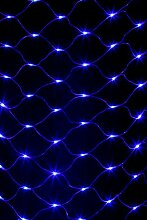 Party Lichternetz LED Lichternetz 256 Led Blau 2*2 2x2 meter
