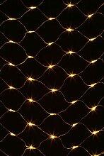 Party Lichtnetz LED Lichternetz, 128 gelbe Led 2*1 meter